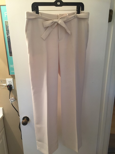 Banana Republic Belted Wide Leg Pants Cream Image 5