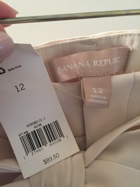 Banana Republic Belted Wide Leg Pants Cream Image 6