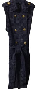 Bizz short dress Navy/white Polka Dot on Tradesy