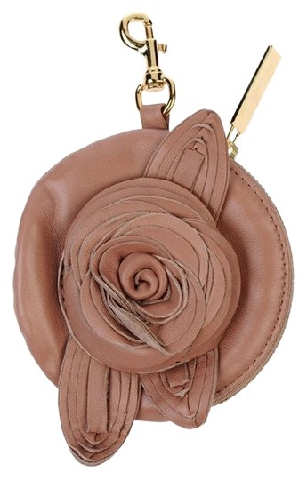 Valentino Valentino Rosette Cash Coin Leather Purse With Key Hook