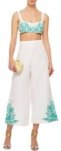 Mara Hoffman Embroidered Luxury Detail Capris White