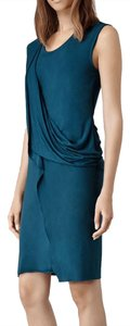 AllSaints short dress Turquoise on Tradesy