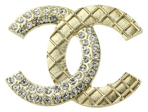Chanel Chanel CC Crystal Accessory Brooch Pin