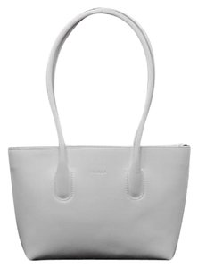 Furla Smooth Leather Tote in White