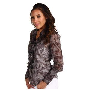 Robert Graham Ruffles Flowy Top