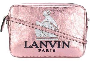 Lanvin Logo So Leather Crossbody Nomad Shoulder Bag