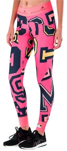 Stella McCartney NWT Adidas Stellasport by Stella McCartney Printed Tights L Pink
