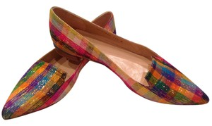Stuart Weitzman Multi Colored with silver Flats