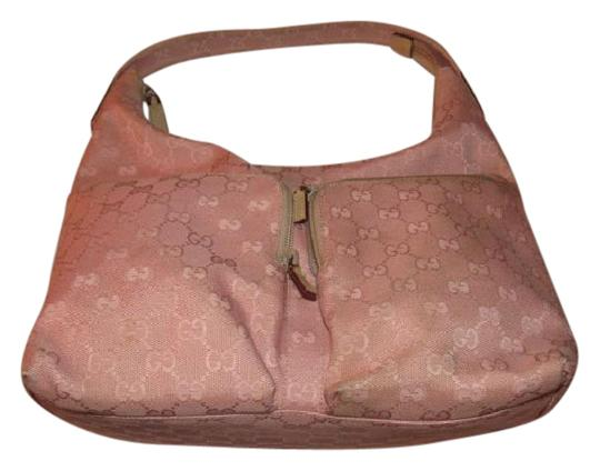Preload https://img-static.tradesy.com/item/20541356/gucci-newer-pursesdesigner-purses-large-g-logo-print-in-shades-pink-on-canvas-with-camel-leather-hea-0-1-540-540.jpg