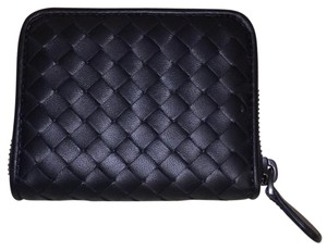 Bottega Veneta coin purse in nero intrecciato nappa