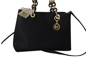 Michael Kors Satchel in Black and gold