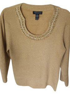 Cable & Gauge Vintage Metallic Beaded Pearl Sweater