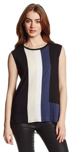 BCBGMAXAZRIA Color-blocking Sleeveless Top Black Combo