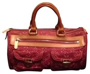Louis Vuitton Neverfull Speedy Doctor Fushia Satchel in Pink