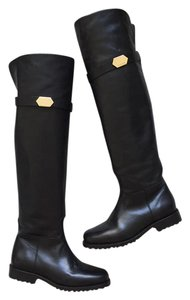 Ted&Muffy Over The Knee Black Boots