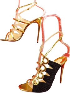 Christian Louboutin Version Gold/Black Pumps