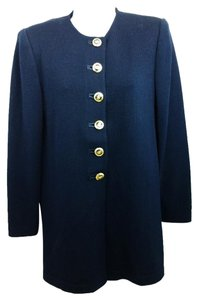 St. John Navy Knit Jacket Blazer