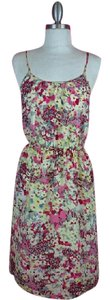 Banana Republic short dress Multi colored Floral Flowy on Tradesy