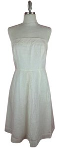 J.Crew short dress White Strapless on Tradesy