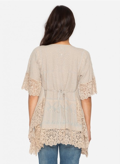 Johnny Was Cotton Crochet Embroidered V-neck Tunic Image 7