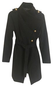Guess Wool Waterfall Miltary-inspired Pea Coat