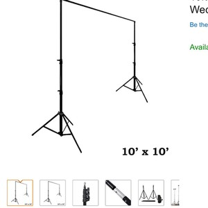 10 X 10 Ft Heavy Duty Pipe And Drape Kit Wedding Photography Backdrop