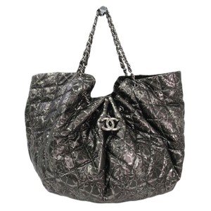 Chanel Tote in Black and Silver