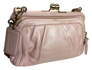 Coach Pearlized Pink Special Edition Night Out Wedding Pearl pink Clutch