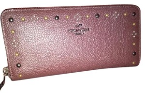 Coach Limited Edtion Accordian Wallet with Bandana Rivets