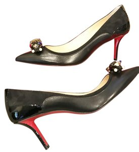 Christian Louboutin Jewel Bow Heels Black Pumps