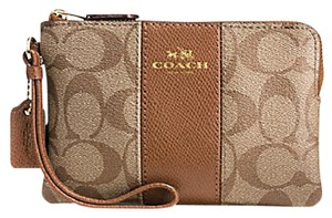 Coach 58035 Spring Date Night Valentine's Day Gift Wristlet in Khaki/Saddle