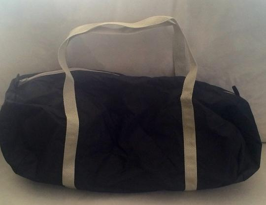 American Apparel Gym Black and Silver Travel Bag