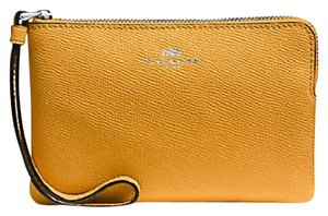 Coach Spring Clutch Date Night Wristlet in Mustard