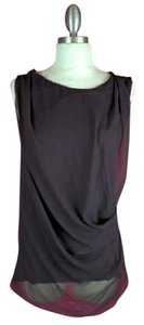 Simply Vera Vera Wang Casual Scooped Neck Top Purple