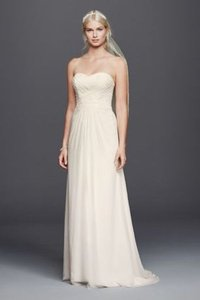 David's Bridal Chiffon Lace Sweetheart Wedding Dress Wedding Dress