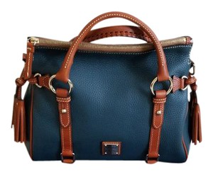 Dooney & Bourke Small Pebble Leather Satchel in Teal