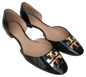 Tory Burch black patent Flats