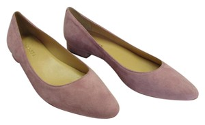 Talbots Size 8.50 Aa (usa) Suede Leather Padded Footbed Very Good Condition Light Pink Flats
