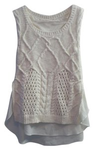 Anthropologie Moth Cable Knit Vest Sweater