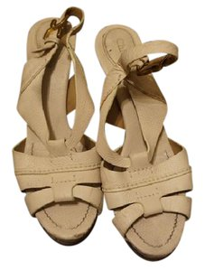Chloé Leather Leather Chloe Cream Platforms