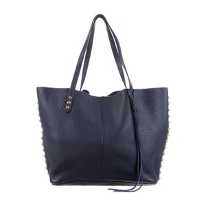 Rebecca Minkoff Leather Tote in Navy