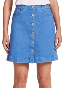 Stella McCartney Mini Skirt Ultra Blue Denim