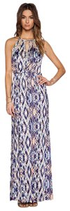 Parker Beaded Maxi Print Formal Top Dress