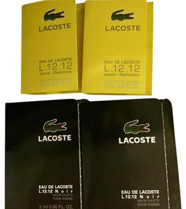 Lacoste Lot of 4 LACOSTE Eau de Lacoste NOIR and Jaune L.12.12 Men's Samples