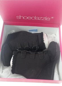 ShoeDazzle Wedge Black Boots