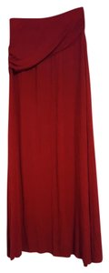 Bobeau Maxi Skirt red