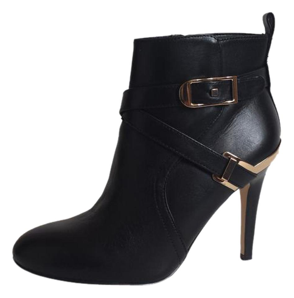 fef576a0f02c Marc Fisher Black Leather Ankle Boots Booties Size US 5.5 Regular (M ...
