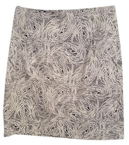 Club Monaco Skirt black and white print