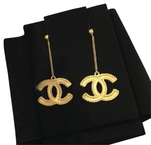 Chanel cc dangled earrings