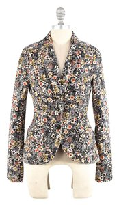 Anthropologie Retro-style Stretch Long Sleeve Floral Blazer